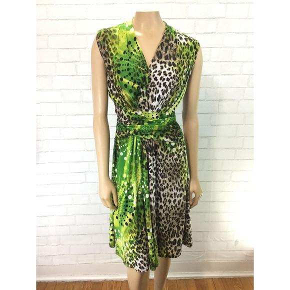 db39dcc9bfc1 Joseph Ribkoff Dresses & Skirts - Joseph Ribkoff Wrap Waist Animal Print  Dress Sz 8